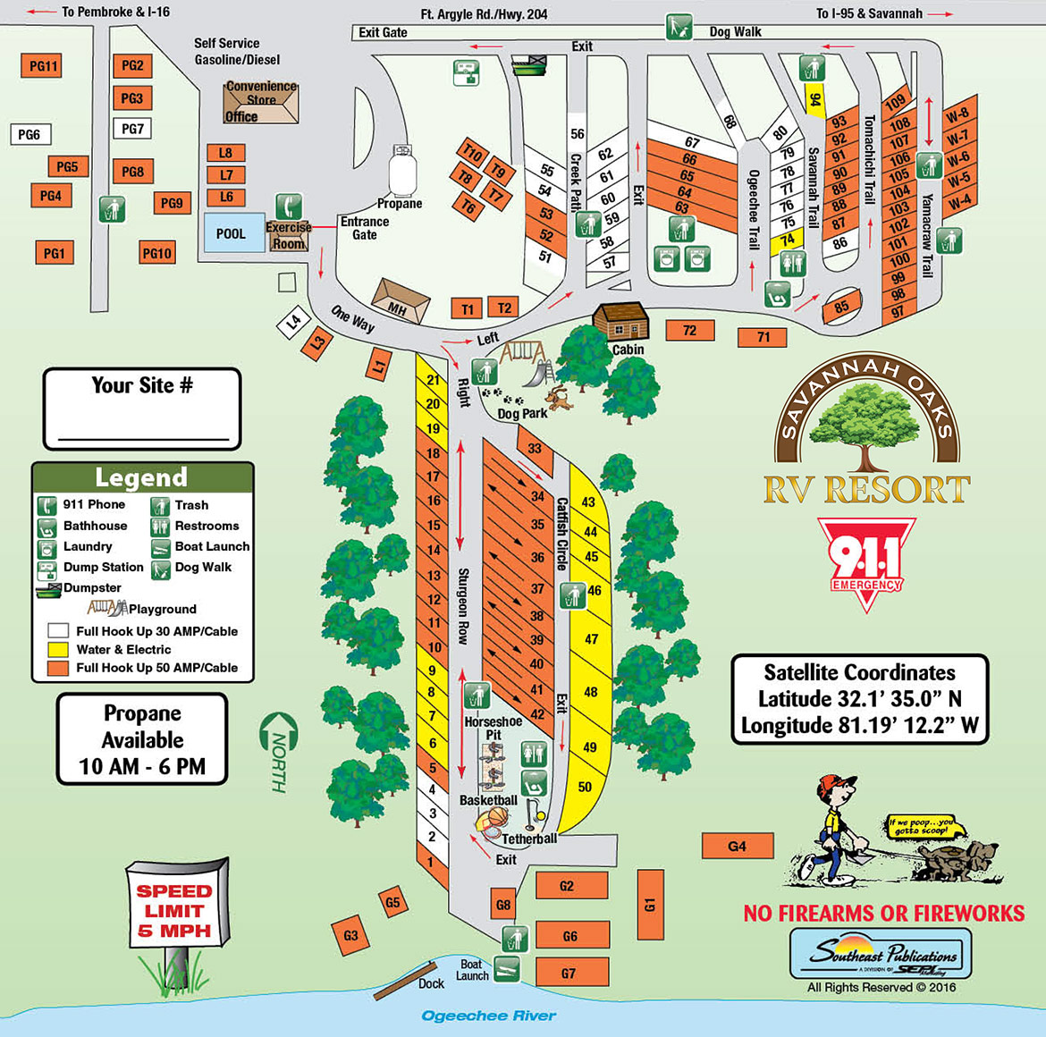 Savannah Oaks Site Map
